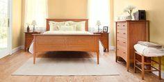 Attirant Modern Shaker Bedroom Furniture Set. Shown In Natural Cherry Wood. Standard  Set Includes 1 Queen Bed, 1 8 Drawer Dresser And 2 3 Drawer Nightstandsu2026