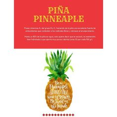 PINEAPPLE   It has vitamins A, B and C, making pineapple an excellent source of antioxidants that fight free radicals and delay aging.  Up to 85% of the pineapple is water, this means that you will be satisfied, it will keep you well hydrated and it contributes very few calories (about 55 per 100 gr). #london #infographic #health #fruits #pineapple #eat #beauties #diuretic #diuretico #frutas #sano #share #diet #instagood #instagram