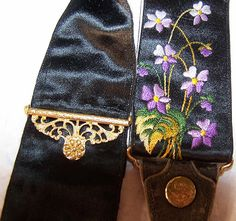 Embroidered braces