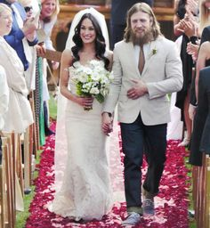 From Brie Bella's Instagram: I've married the man of my dreams. I'm officially Mrs. Danielson. It was a breathtaking sentimental ceremony that we will be sharing with all of you soon. The best part was walking down the aisle barefooted (yes Nikki let me :) to my husband to be. I will always remember the way he looked at me ☺ B+B