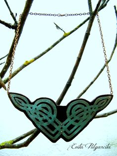 https://flic.kr/p/EtxUif | Cetic necklace | Celtic necklace made of sawed cooper with turquoise patina