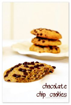 chocolate chip cookies Chocolate Chip Cookies, Easy Meals, Chips, Breakfast, Blog, Recipes, Morning Coffee, Potato Chip, Recipies