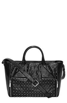 ALEXANDER MCQUEEN 'De Manta' Studded Calfskin Leather Tote. #alexandermcqueen #bags #shoulder bags #hand bags #leather #tote