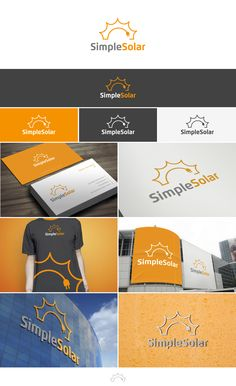 Simple Solar logo & business card by betiatto