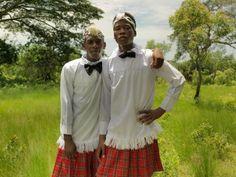 young Zulu men dressed for church