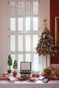Try This: Projects for the Holidays: Newspaper Christmas Tree