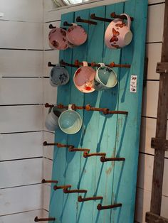 What a great way to display tea cups and coffee mugs!