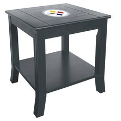 The Pittsburgh Steelers Side Table if fantastic for Steelers Man Caves and Game Rooms