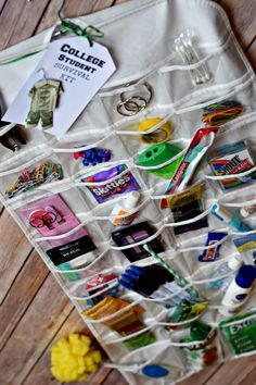 Perfect gift idea for college students College Student Survival Kit. Perfect gift idea for college students College Student Survival Kit. Perfect gift idea for. High School Graduation Gifts, Graduation Diy, College Gifts, Graduation Gift Baskets, College Gift Baskets, Graduation Parties, College Care Packages, College Dorms, College Hacks