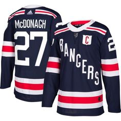 adidas Men's 2018 Winter Classic New York Rangers Ryan McDonagh #27 Authentic Pro Home Jersey, Team