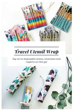 Say no to disposable straws, silverware and napkins on-the-go! It can be difficult when you are traveling or out and about if you aren't prepared. This wrap can be used in many ways to create your perfect travel set #plasticfree #zerowaste #aff