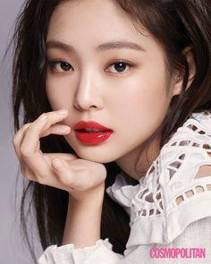 For your visual pleasure K Fashion, Asian Makeup, Korean Makeup, Blackpink Jennie, Kpop Girl Groups, Kpop Girls, Cosmopolitan, Blackpink Wallpaper, Cute Gifs
