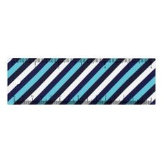 Blue Stripe Ruler  $8.85  by MinDeysigns  - cyo customize personalize unique diy