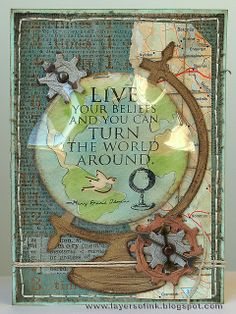 Vintage Globe card | Flickr - Photo Sharing!