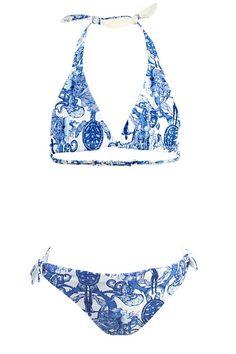 Chicmala bikini voor meisjes Dive, blauw