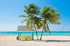 Caribbean beach with