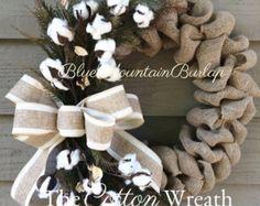 Winter Wreath The Lotus Pods Burlap Wreath by BlueMountainBurlap