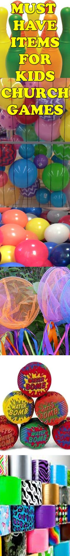 20 MUST HAVE ITEMS FOR CHURCH VBS GAMES!!! Are you struggling to always find kids church game ideas to add to your lesson plan for VBS? With our list of 20 must have game items, we know you will never again have a hard time coming up with a game to play.