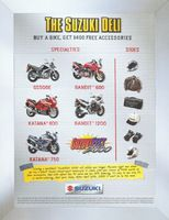 Suzuki Motorcycle Accessories 2000 Ad Picture