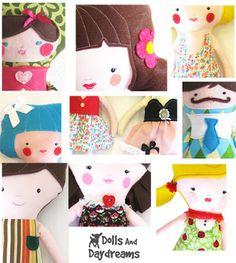 * Bonecas e devaneios - boneca e Softie Padrões de Costura PDF: Tutoriais