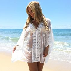 Glow For It Cover Up Tunic Top