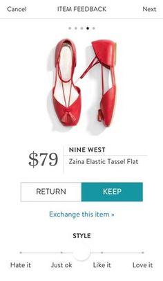 d5113b7ef8b NINE WEST Zaina Elastic Tassel Flat from Stitch Fix. https   www.
