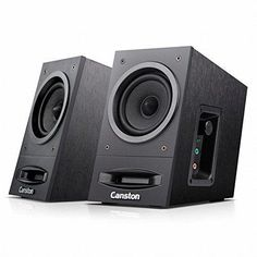 Canston 2.0Ch Premium USB Powerd Speaker LX-2000 Merlin 2.0CH Dynamic Acoustic Sound Black MDF Wooden Made Computer Speaker Laptop PC Speaker