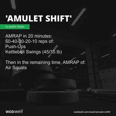 AMRAP in 20 minutes: reps of:; Push-Ups; Then in the remaining time, AMRAP of:; Crossfit Warmup, Crossfit Workouts At Home, Amrap Workout, Sixpack Workout, Kettlebell Training, Insanity Workout, Tabata Workouts, Kettlebell Swings, Best Cardio Workout