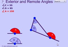 Geometry, trigonometry, Algebra and calculus animated gifs that show math concepts Alternate Exterior Angles, 8th Grade Math Worksheets, Triangle Math, Pythagorean Theorem, Math Poster, Trigonometry, Thing 1, Science, Math Concepts