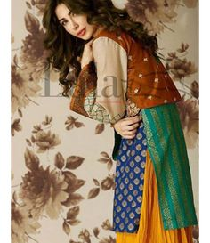 Lala Brocade Embroidered Kurtis Collection 2016 BRK_09