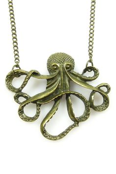 Eye Candy Los Angeles, Octopus Pendant Necklace