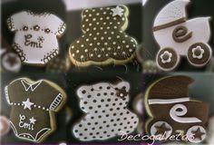 Mesa dulce Bautizo de Emi (en rosa y marrón chocolate!) | www.decogalletas.com