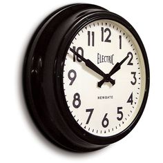 This vintage clock would work well on your country kitchen exposed white brick walls! Electric Station, Home Suites, Electric Clock, Retro Clock, Vintage Clocks, White Brick Walls, Country Kitchen Designs, Vintage Industrial Furniture, Industrial Style