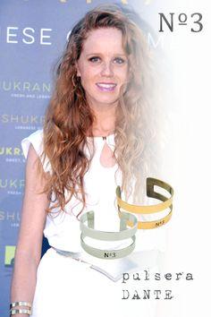 #MaríaCastro con la pulsera #DANTE . Ideal para un look de noche #ilovenumero3