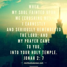 Jonah for the faint of heart, press on! Bible Verses Quotes, Words Quotes, Scriptures, Prophet Jonah, Book Of Jonah, Great Is Your Faithfulness, Psalm 86, Lamentations, Jesus Freak
