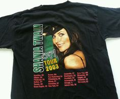 41fbd6663 XL Rare 2-Sided 2003 Shania Twain UP! Concert Tour T Shirt Sexy! Country  Music #TCI #GraphicTee