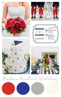 Modern Nautical Wedding Inspiration @ Paper Muse Press