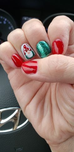 Christmas Gnome, Christmas Nail Art, Acrylic Nail Shapes, Acrylic Nails, Pedicure Designs, Nail Art Designs, Best Workwear, Wintry Weather, Cute Haircuts