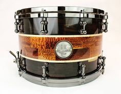 HHG Drums Blackwood, Snakewood, And Maple Segmented Snare 2018 High Gloss Drum Key, Drum Parts, Nickel Plating, Snare Drum, Farm Yard, Brushed Stainless Steel, Music Stuff, Wood Species, Rock Bands