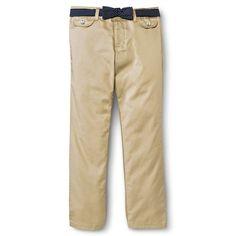 French Toast Girls' Polka Dot Belt Pant Khaki (Green) 20, Girl's