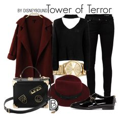 """Tower of Terror"" by leslieakay ❤ liked on Polyvore featuring MICHAEL Michael Kors, Yves Saint Laurent, Boohoo, Sans Souci, STELLA McCARTNEY, disney, disneybound and disneycharacter"