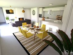 Home decor inspiration for an open kitchen to living room