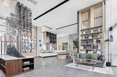 销售中心:当代城市山林 心居所|空间|室内设计|KOOMARK - 原创作品 - 站酷 (ZCOOL) Residential Interior Design, Divider, Room, Furniture, Home Decor, Bedroom, Rooms, Interior Design, Home Interior Design