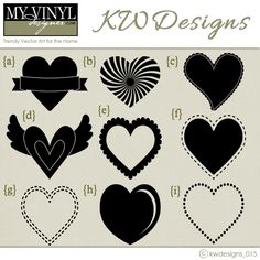 DIGITAL DOWNLOAD ... in AI, EPS, GSD, & SVG formats @ My Vinyl Designer #heartvector
