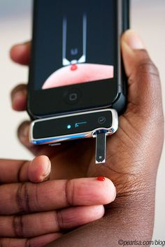 iBG Star Meter by Pearlsa, via Flickr  Test your blood sugar on your iPhone! I NEED this!!!