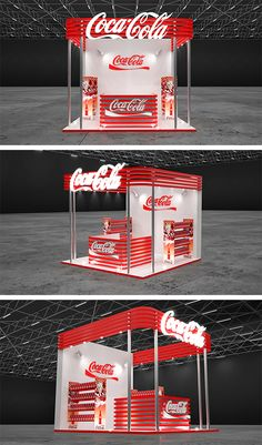 Booth Design for Coca Cola Exhibition Stall, Exhibition Booth Design, Kiosk Design, Display Design, Escudo Paw Patrol, Cosmetics Display Stand, Food Cart Design, Trade Show Design, Shop Display Stands