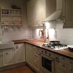 Ikea kitchen - love the cabinets, countertops, and pulls Ranch Kitchen, Real Kitchen, Kitchen Redo, Rustic Kitchen, Kitchen Remodel, Kitchen Dining, Kitchen Ideas, Beach House Kitchens, Cottage Kitchens