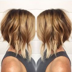 Image result for dark roots blonde ends a line bob with bangs