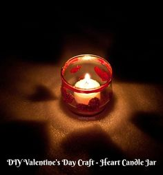 Mom Knows It All DIY Valentine's Day Craft - Heart Candle Jar