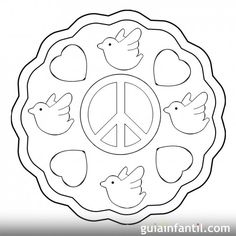 Peace Crafts, International Day Of Peace, Cool Coloring Pages, Remembrance Day, World Peace, Stained Glass Patterns, Adult Coloring, Peace And Love, Religion